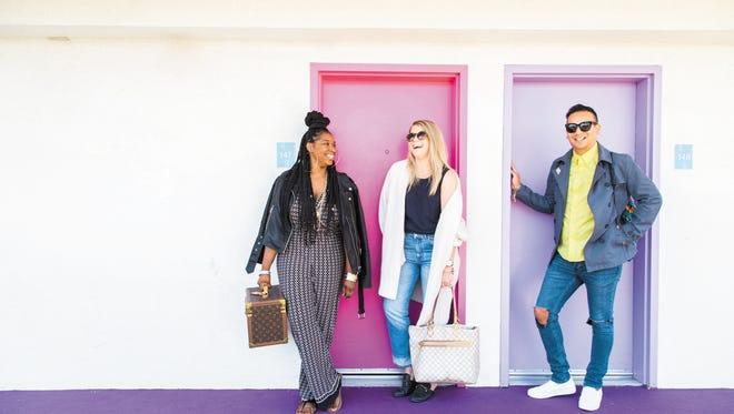 Brooke Butler, Nicole Bowen and Salvador Camarena at Saguaro Palm Springs.