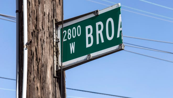 The 2800 block of West Broadway is the location of a prayer station that will operate for several more weeks. 6/6/17