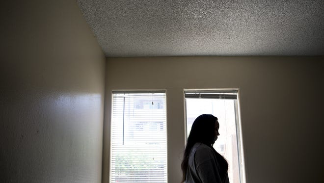 Ebony Lott searched for weeks to find a new apartment so she could move out of a shelter.