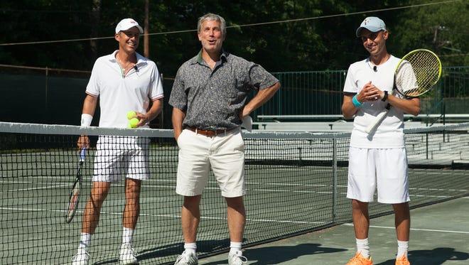 Eric Krickstein, Eric Fromm and Anton Bobytskyi on the court.