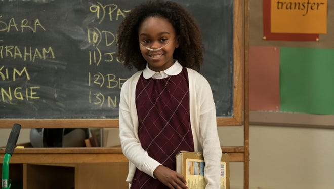 """Lidya Jewett, of Palm City, on the set of the pilot episode of NBC's """"Good Girls,"""" which premieres at 10 p.m. Monday."""