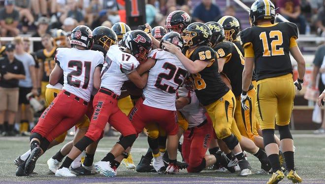 The Murphy Bulldogs defeated the Pisgah Black Bear in 30-13 their season opener at Western Carolina University in Cullowhee on Thursday, Aug. 17, 2017.