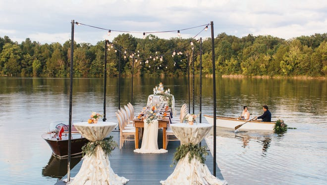 All Occasions Party Rentals and new acquisition Campbell Tent & Party Rentals offer wedding equipment and other items, as shown here at Marblegate Farm in Blount County.
