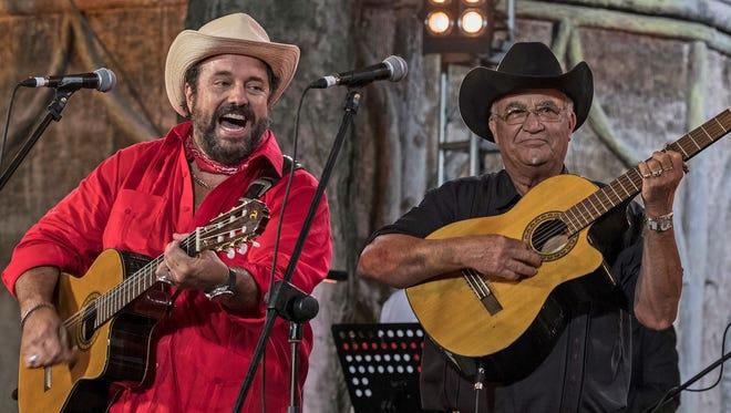 "Raúl Malo of the Mavericks with Eliades Ochoa in ""Havana Time Machine"""