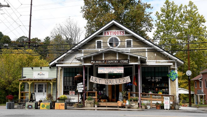 The One of a Kind gallery is located inside an historic country store in Micaville, just a few miles from downtown Burnsville.