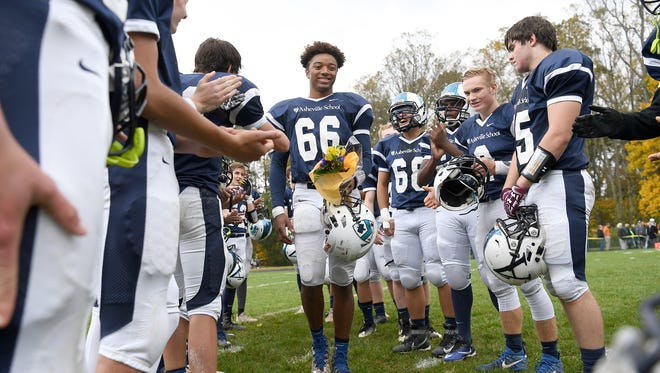 Asheville School and Christ School met for their 91st rivalry game on Saturday, Oct. 28, 2017 at Asheville School. The Greenies defeated the Blues 47-6.