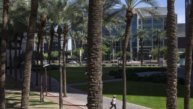 The future hotel site, Nov. 10, 2017, at the Arizona Center, 455 N 3rd Street, Phoenix.