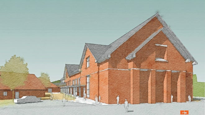 A rendering of Advent United Methodist Church's new building.