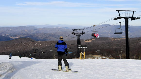 Skiers and snowboarders took to the slopes at Beech