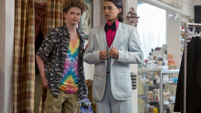 "Quinn Liebling (left, with Rio Mangini) is one of the stars of Netflix's ""Everything Sucks!"", which follows the foibles of a group of mid-1990s teens."