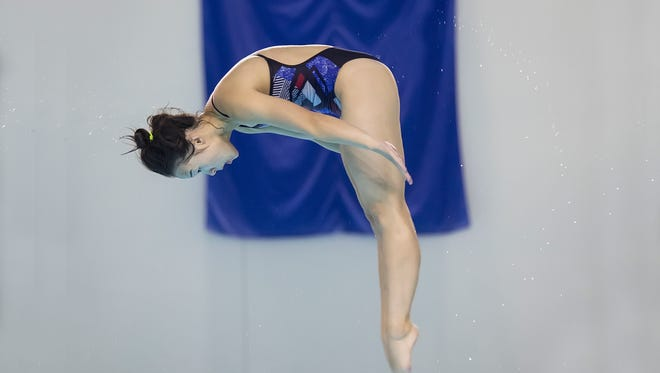 Nevada's Sharae Zheng won all three diving events at the Mountain West championships.