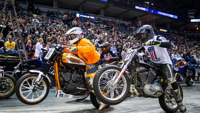 Flat Out Friday, part of the Mama Tried Motorcycle Show weekend, races into Fiserv Forum Friday.