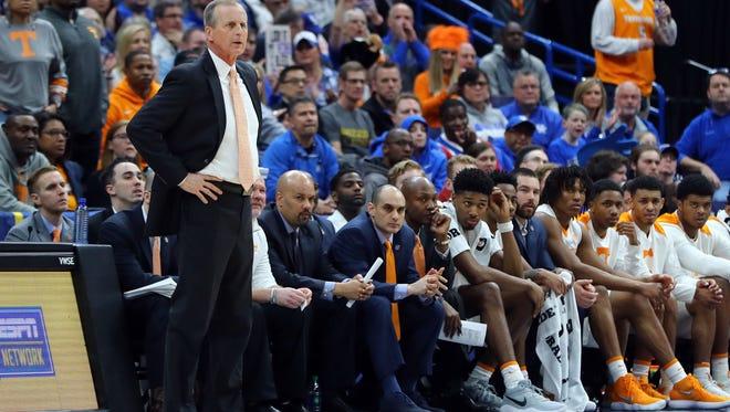 Vols coach Rick Barnes