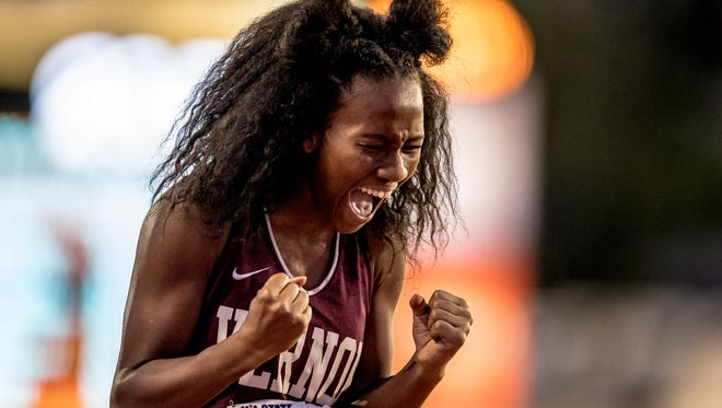 2017 UIL State Track and Field Championships at Mike Myers Stadium in Austin, Texas on May 13, 2017