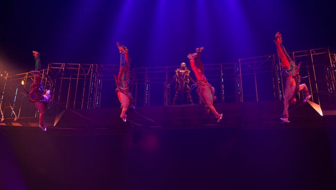 Here's an image from the 'Volta' show, which canceled performances after an aerialist in the cast fell to his death.