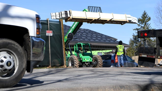 A new event center named Amherst at Deerpark is under construction on the Biltmore Estate.