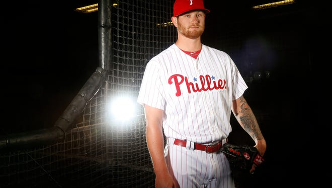 CLEARWATER, FL - FEBRUARY 20:  Ben Lively #49 of the Philadelphia Phillies poses for a portrait on February 20, 2018 at Spectrum Field in Clearwater, Florida. (Photo by Brian Blanco/Getty Images)