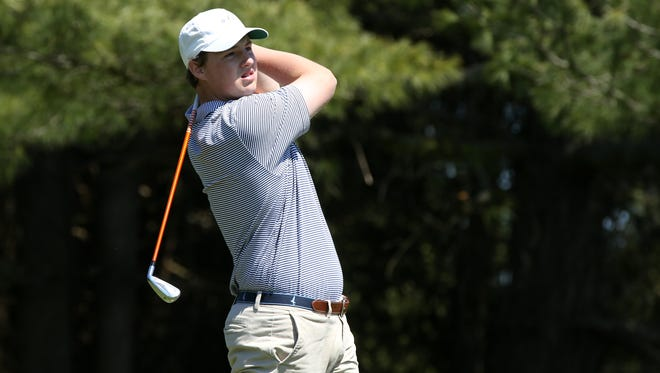 CBA's Jack Wall, shown at the Shore Conference Tournament at Charleston Springs, shot 68 on Monday at Spring Lake to emerge as the medalist at local U.S. Open qualifying.