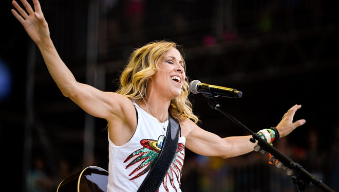 Sheryl Crow performs during the Bonnaroo Music and Arts Festival in Manchester, Tenn., Friday, June 8, 2018.