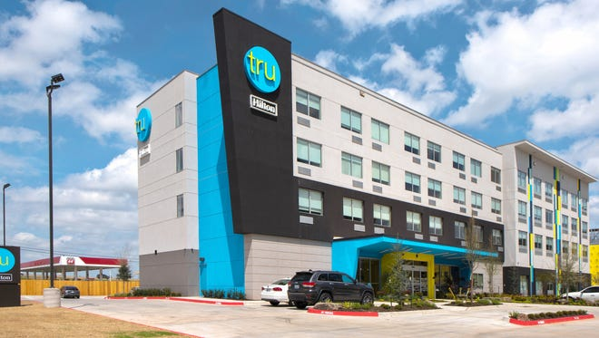 A Tru by Hilton hotel is expected to be built at 525 E. Elm St. in central Springfield by May 2019. This is a recent publicity photo depicting a Tru by Hilton hotel in Oklahoma City.