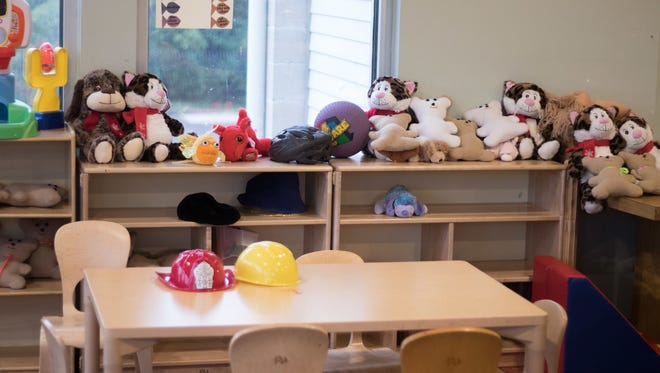 A children's play room at the YWCA Nashville domestic violence shelter.