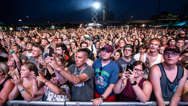 The crowd went wild for Forecastle headliner Arcade Fire on Sunday night. 7/15/18