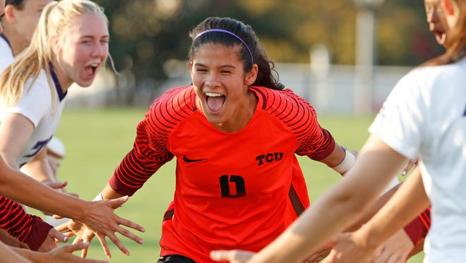 El Paso's Emily Alvarado will compete for Mexico in the U20 Women's World Cup. Here she is picuted for TCU vs Missouri women's soccer at at Garvey-Rosenthal Soccer Stadium in Fort Worth, Texas on Sept. 3, 2017. (
