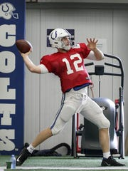 Andrew Luck was throwing 30 and 40-yard passes as recently as October.