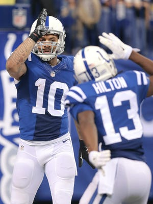 Colts WR Donte Moncrief went off for two TDs in Sunday's win.