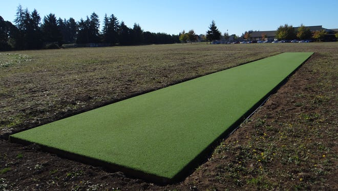 A crick pitch was installed in the middle of undeveloped park land between Stephens Middle School and Yoshikai Elementary School in northeast Salem.