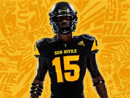 b1b2353df The wait is over  ASU football unveils Adidas uniforms