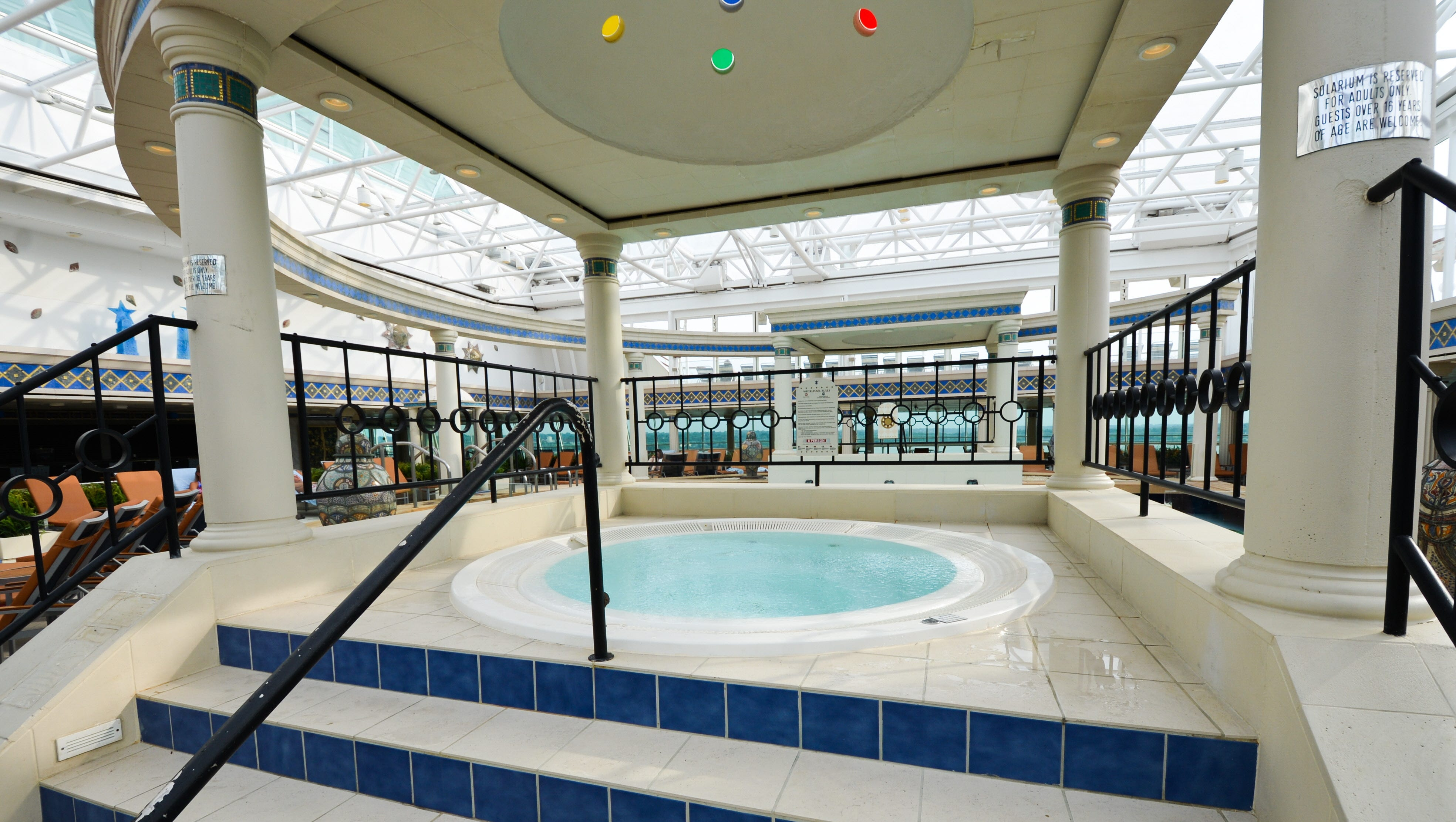 The Solarium features two hot tubs.