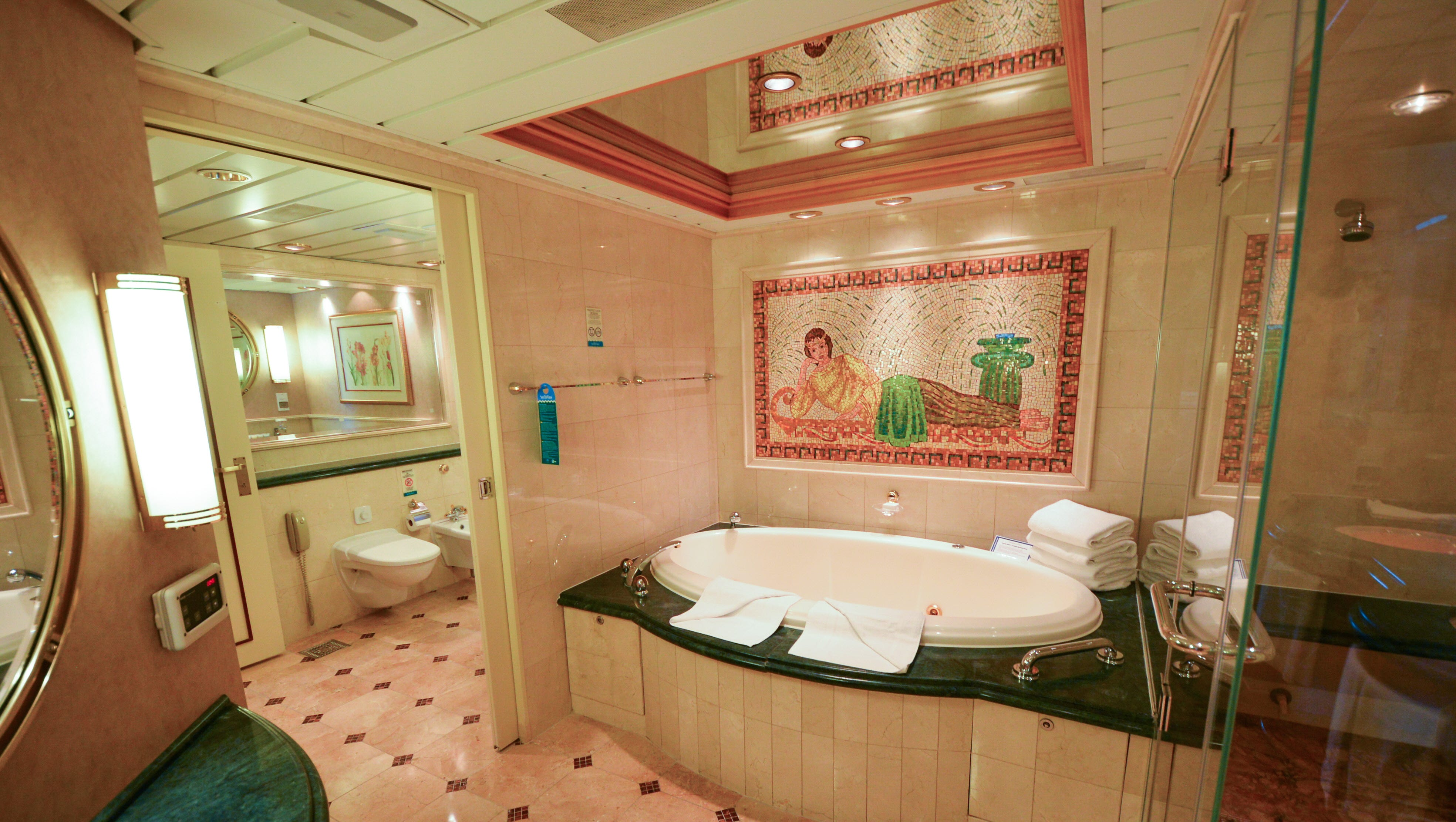 The master bathroom has a whirlpool tub and separate walk-in shower.