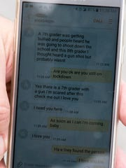 Amy Burgett shares a text message between her and her