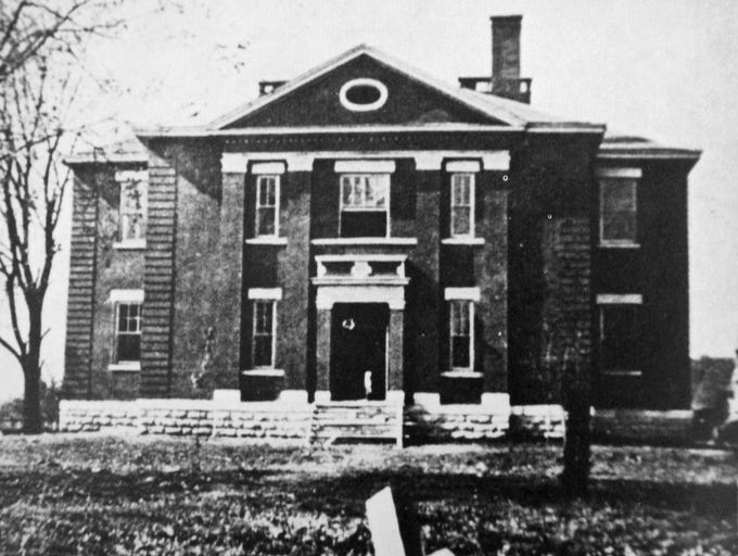 Franklin High School had its  beginnings in 1910 on the second floor of  this school house which was the public grammer school at Five Points.