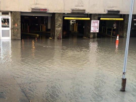 Civic Center Garage: Water Main Break Impacts Civic Center Garage