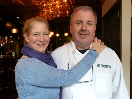 Co-owners Denise and Robert Horton at An American Bistro