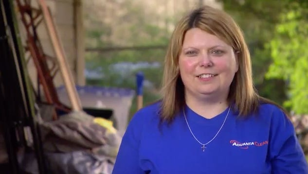 "Indianapolis native Danielle Martin trains AdvantaClean CEO Jeff Dudan on an episode of ""Undercover Boss"" airing Jan. 11 at 8 p.m."