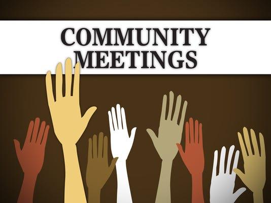 Presto graphic Community Meetings