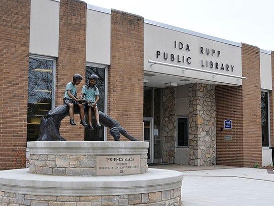 Ida Rupp Public Library, at Third and Fulton streets