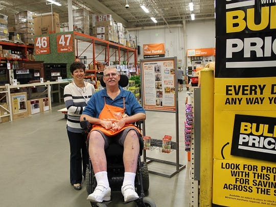 Bancroft's Lois Forman works with Walter Crary, a star employee at Home Depot in West Berlin.