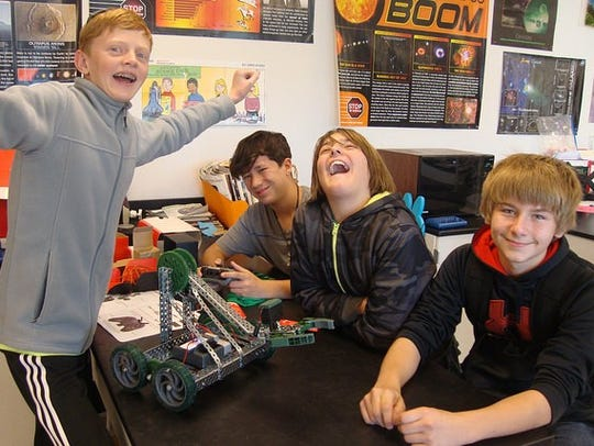 Students get a kick out of robotics at Sequoia Village