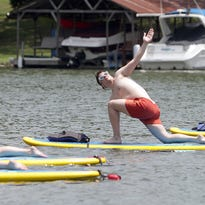 Ditch the boat, Hendersonville. Try yoga on the water