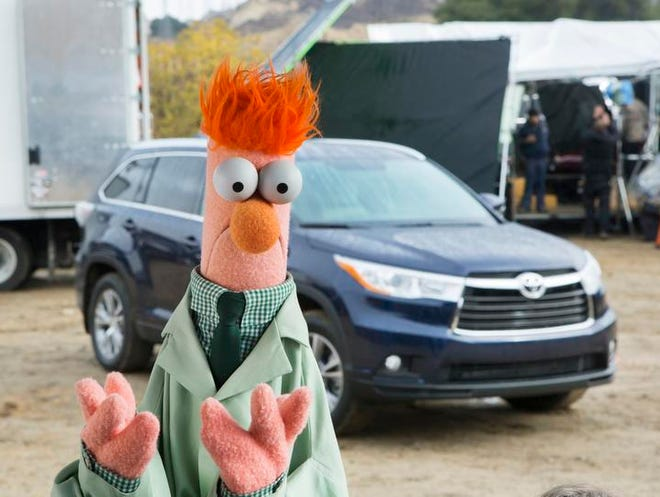 Toyota tapped into nostalgia with using Beaker of The Muppets to tout the 2014 Highlander. <cutline_credit><219,4,191>USA Today </cutline_credit>