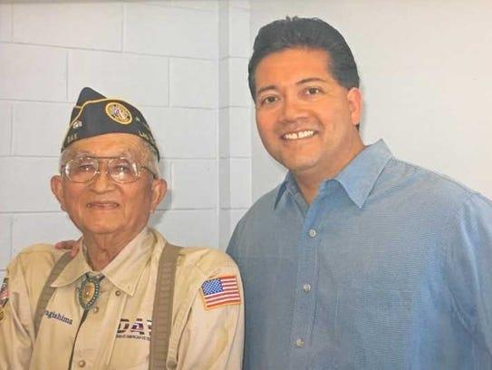 Mike Miyagishima, left, and his son, Ken Miyagishima.