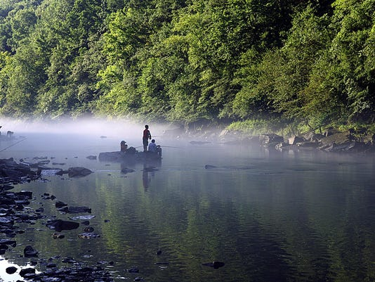 Every Kid in a Park-Kids fishing in the mist
