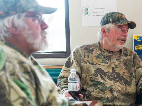 Joe McComas and Ronnie Gray chat at Newark Station