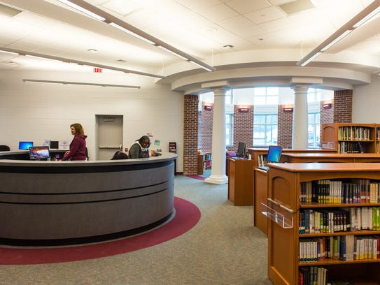 A view of the new Snow Hill High School library on