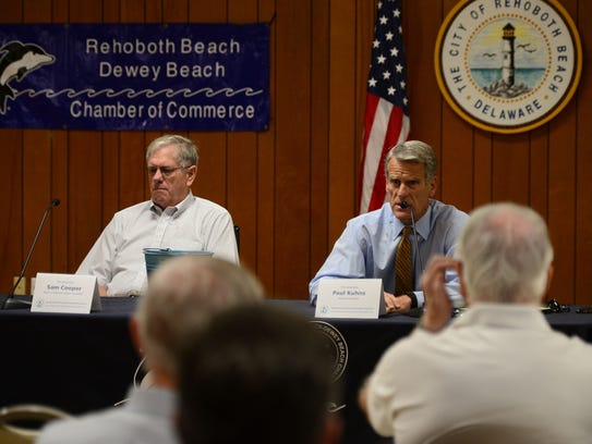 Current Rehoboth Beach Mayor Sam Cooper and Mayoral