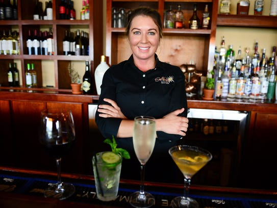 Sobo's Lead Bartender Tamar Johnson. Tuesday, July